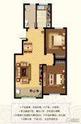 东郡2室2厅1卫92平方米户型图
