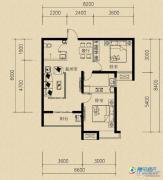 燕赵国际2室2厅1卫76平方米户型图