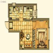 银亿格兰郡1室1厅1卫56平方米户型图