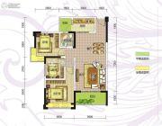 九曲御景3室2厅1卫92平方米户型图