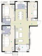 观海路8号2室2厅2卫136平方米户型图