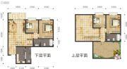 双语雅苑4室3厅2卫114--136平方米户型图