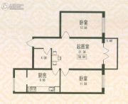 福宏名城1室0厅1卫58平方米户型图