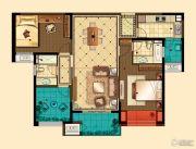星河国际3室2厅2卫123平方米户型图