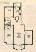 福宏名城3室1厅2卫107平方米户型图