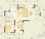 万科汉阳国际3室2厅1卫90平方米户型图