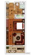 绿城朱家尖东沙度假村1室1厅1卫75平方米户型图