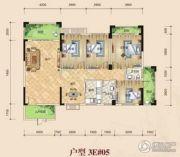 鸿泰花园4室2厅2卫139平方米户型图