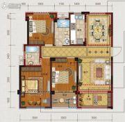文居学府3室2厅2卫0平方米户型图