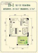 仙女山1号1室1厅1卫0平方米户型图