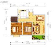 磁湖南郡2室2厅1卫90平方米户型图