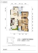 江岸国际3室2厅2卫116平方米户型图