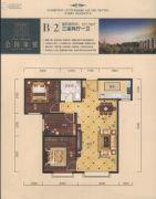 公园柒�3室2厅1卫101平方米户型图