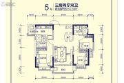 恒大天府半岛3室2厅2卫107平方米户型图