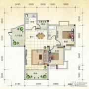 国际新城2室2厅1卫90平方米户型图