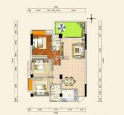 京源上景3室2厅2卫91--107平方米户型图