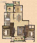 深惠颐景园2室2厅2卫95平方米户型图