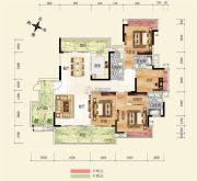 广博峰景4室2厅3卫175平方米户型图