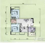 金奥园2室2厅1卫53平方米户型图