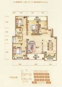 银基誉府3室2厅2卫125平方米户型图