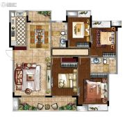 富力金禧悦城3室3厅2卫0平方米户型图