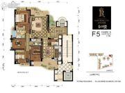 百川・润城3室2厅2卫0平方米户型图