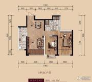 中广宜景湾・尚城2室2厅2卫102平方米户型图