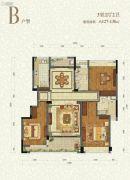 九洲绿城・翠湖香山3室2厅2卫127--130平方米户型图