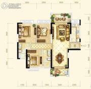 耀江・西岸公馆3室2厅2卫123平方米户型图