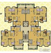 丽豪花园3室2厅2卫93平方米户型图
