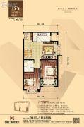 丹东万达广场2室2厅1卫87平方米户型图