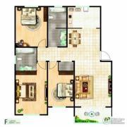 富邦・万得园3室2厅2卫136平方米户型图