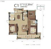 中铁・世纪山水3室2厅2卫112平方米户型图