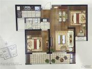 东方兰园2室2厅1卫85平方米户型图