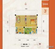 金港花园1室1厅1卫34平方米户型图