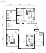 修正・一品汤城2室2厅1卫102平方米户型图