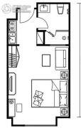浦江・波士湾壹�1室0厅1卫45平方米户型图