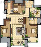 玉潭花溪3室2厅2卫0平方米户型图