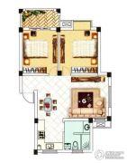 中浪玉泉花苑2室2厅1卫79平方米户型图