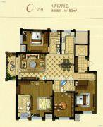金鹰国际花园4室2厅3卫189平方米户型图