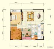 中盛・财富中心3室2厅1卫89平方米户型图