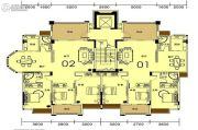 香槟公馆3室2厅2卫130--190平方米户型图