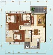 荔山雅筑3室2厅2卫109平方米户型图
