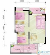 中亿阳明山水2室2厅1卫64平方米户型图