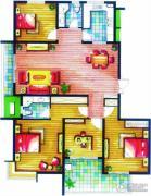 上书房4室2厅2卫165平方米户型图