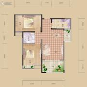 海赋长兴2室2厅1卫84平方米户型图