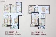 盛世春天3室2厅1卫106--115平方米户型图