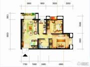 凯隆橙仕公馆2室1厅1卫75平方米户型图