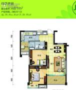 福鼎碧桂园2室2厅1卫81平方米户型图