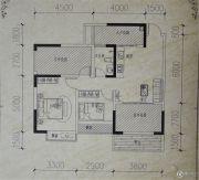 镒建世纪城2室2厅1卫89平方米户型图